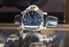 海面の様な色鮮やかなブルー文字盤!「パネライ ルミノール GMT PAM1033」再入荷!