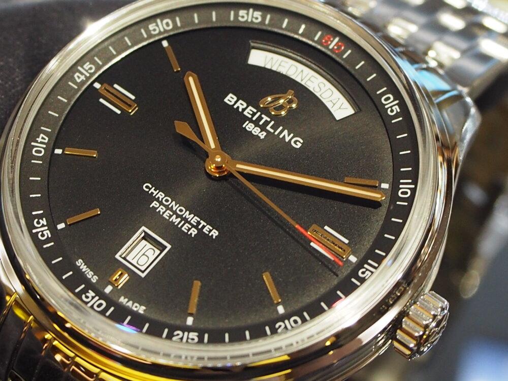 【ブライトリング】高級感のある黒×金デザイン!~プレミエ オートマチック デイ&デイト 40~-BREITLING -PC100845