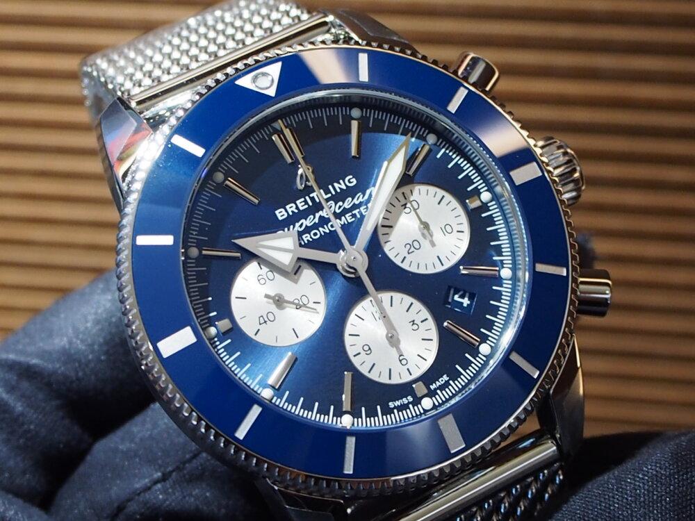 【ブライトリング】高発色のブルーが人気!~スーパーオーシャン ヘリテージ II B01 クロノグラフ 44~-BREITLING -P1011006