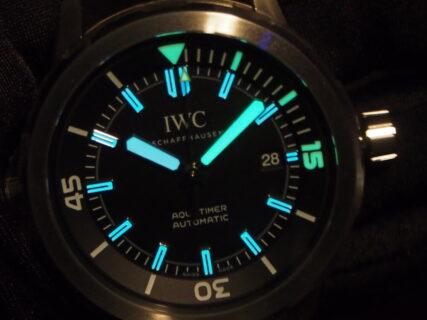 IWC【アクアタイマー・オートマティック】二色の夜光塗料が魅力的!