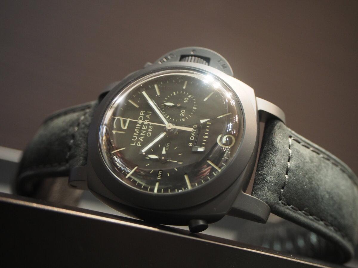 【生産終了モデル】パネライ / ルミノール クロノ モノプルサンテ 8デイズ GMT (PAM00317)-PANERAI -P2150419