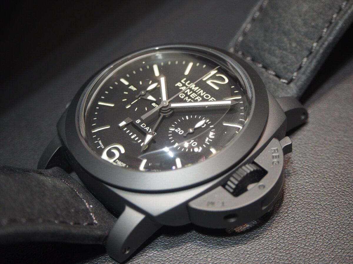 【生産終了モデル】パネライ / ルミノール クロノ モノプルサンテ 8デイズ GMT (PAM00317)-PANERAI -P2150420