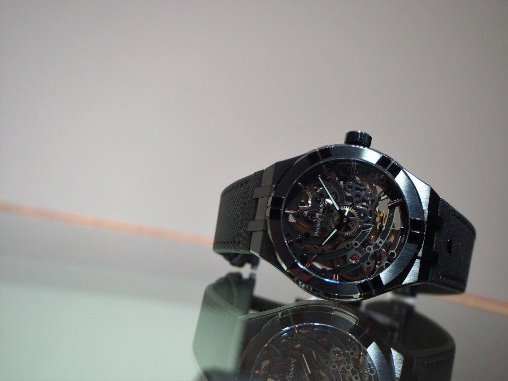 """【モーリス・ラクロア】""""BLACK IS BEAUTIFUL"""" アイコン オートマチック スケルトン 限定モデル-MAURICE LACROIX -P5122582"""