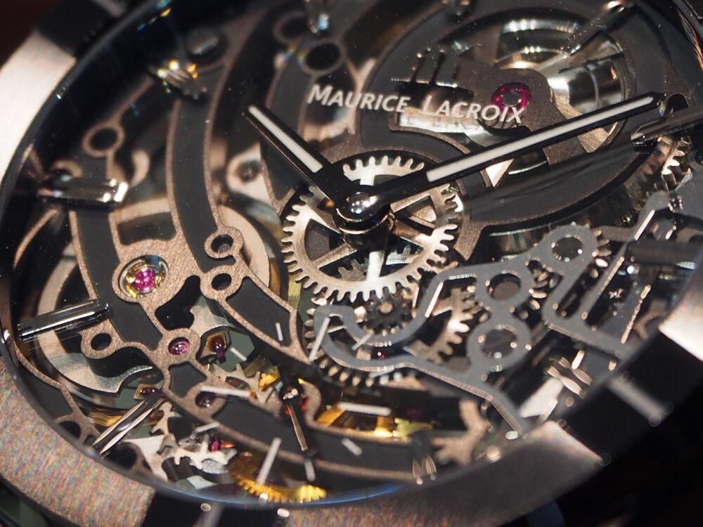 """【モーリス・ラクロア】""""BLACK IS BEAUTIFUL"""" アイコン オートマチック スケルトン 限定モデル-MAURICE LACROIX -P5122587"""