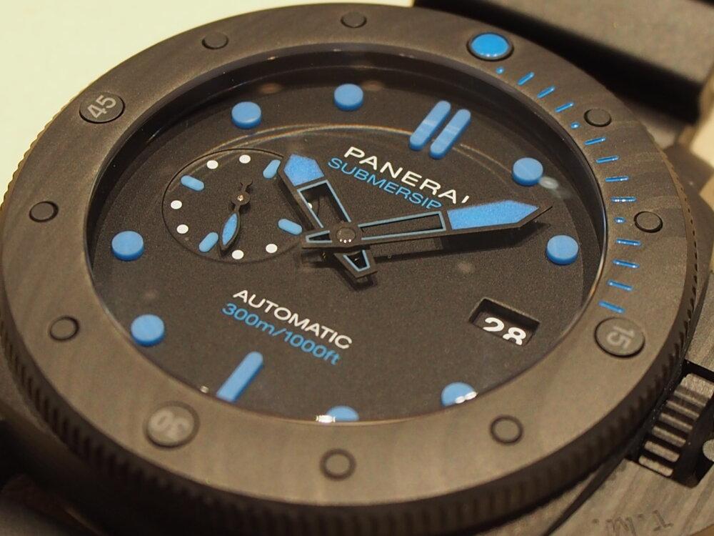 【パネライ】鮮やかなブルーに目を惹かれるサブマーシブルPAM01616-PANERAI -P8080087