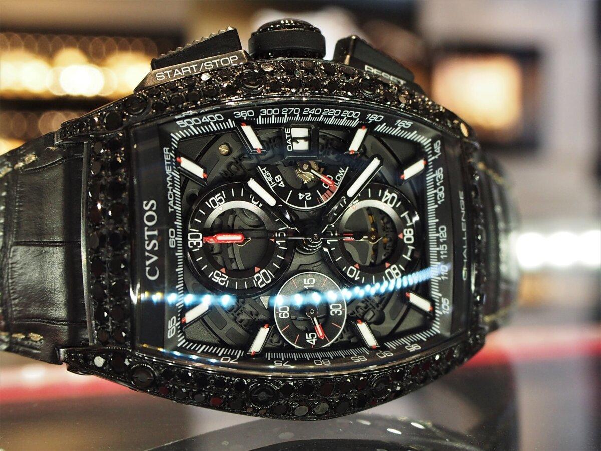 【クストス】ブラックダイヤが存在感溢れる、ラグジュアリーな一本。チャレンジクロノⅡ-CVSTOS -PC256832