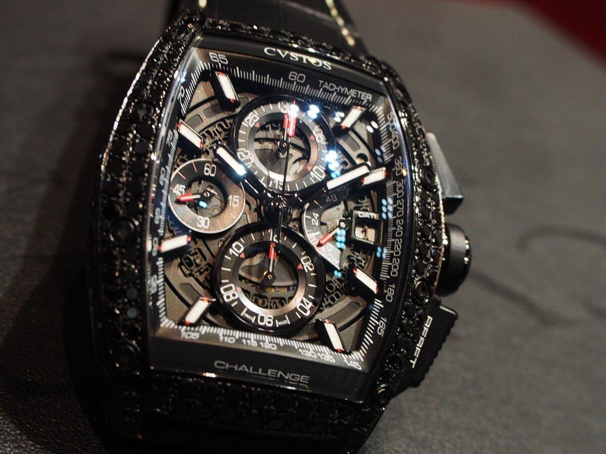 【クストス】ブラックダイヤが存在感溢れる、ラグジュアリーな一本。チャレンジクロノⅡ-CVSTOS -PC256836