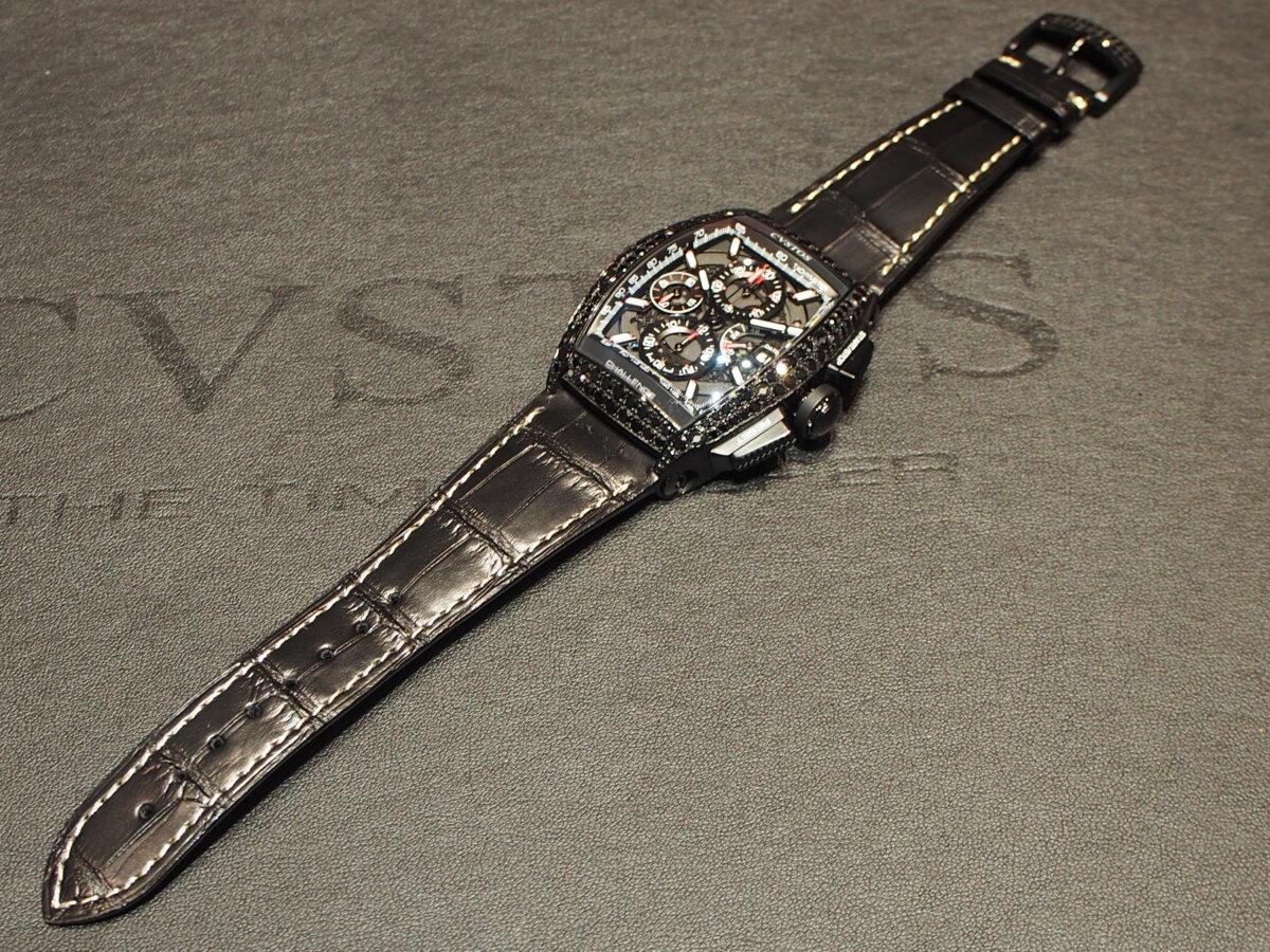 【クストス】ブラックダイヤが存在感溢れる、ラグジュアリーな一本。チャレンジクロノⅡ-CVSTOS -PC256844