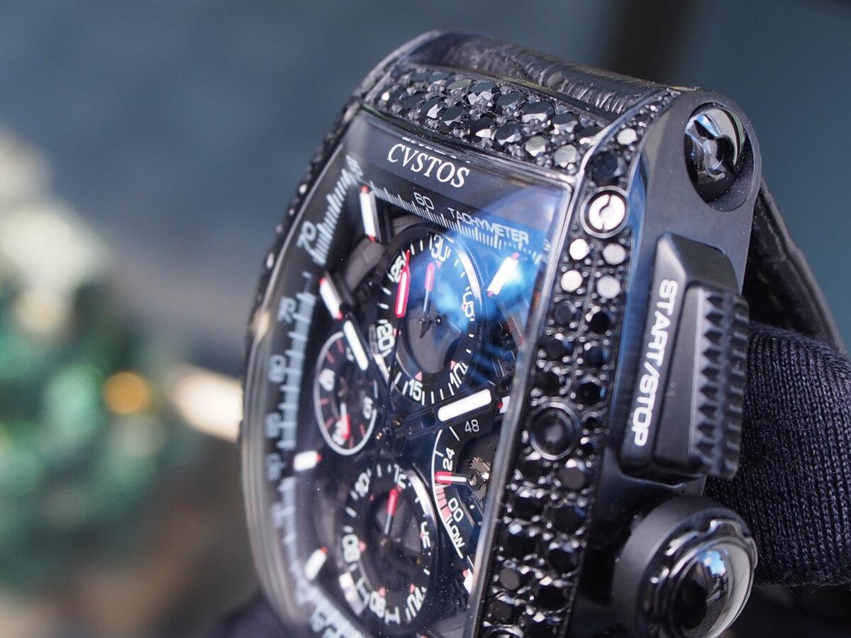 【クストス】ブラックダイヤが存在感溢れる、ラグジュアリーな一本。チャレンジクロノⅡ-CVSTOS -PC256851
