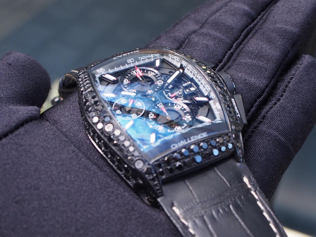 【クストス】ブラックダイヤが存在感溢れる、ラグジュアリーな一本。チャレンジクロノⅡ-CVSTOS -PC256855