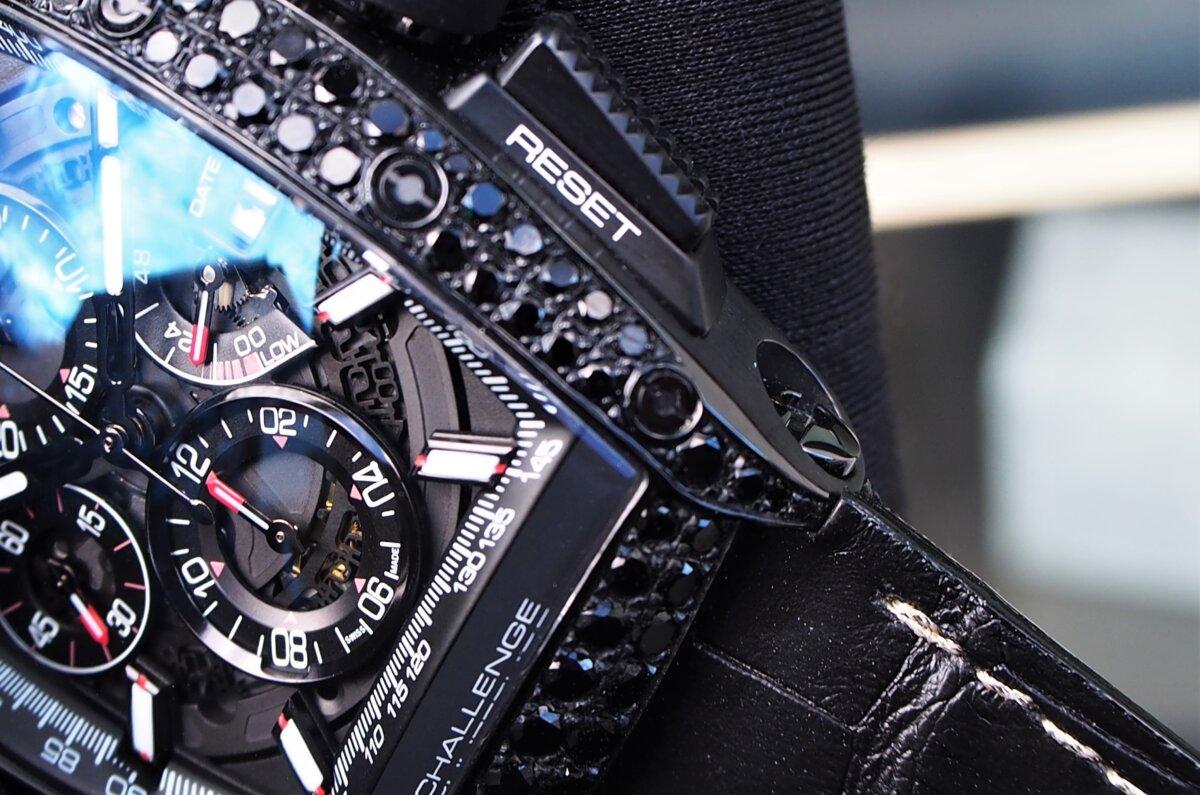 【クストス】ブラックダイヤが存在感溢れる、ラグジュアリーな一本。チャレンジクロノⅡ-CVSTOS -PC256856