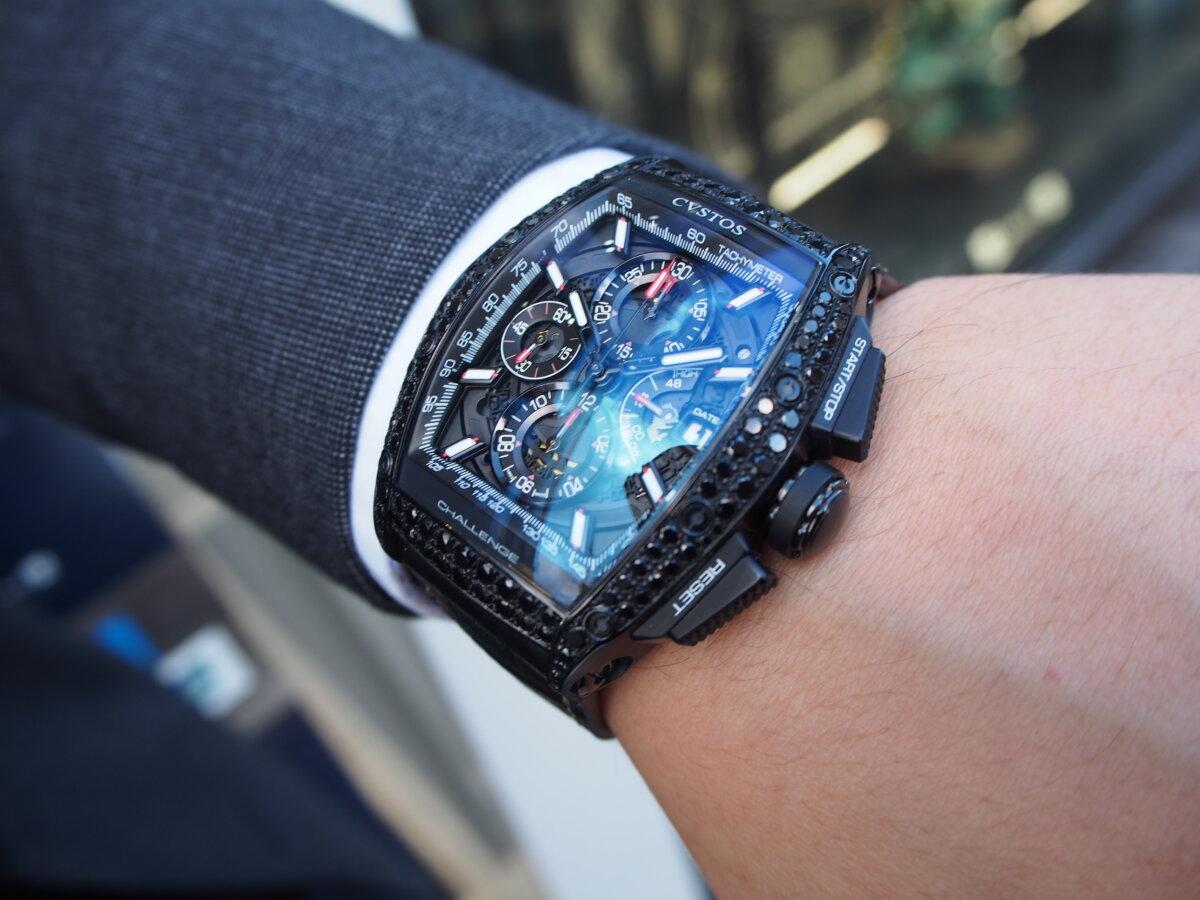 【クストス】ブラックダイヤが存在感溢れる、ラグジュアリーな一本。チャレンジクロノⅡ-CVSTOS -PC256861