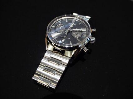 【お客様の時計を紹介】タグ・ホイヤー新作 エレガントなクロノグラフをブレスレット仕様で高級感アップ!
