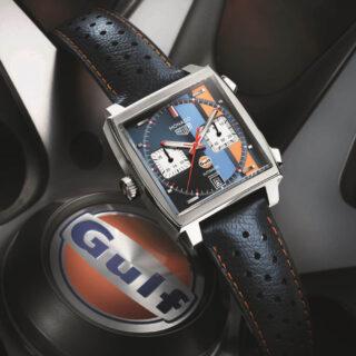 1971年公開の「栄光のル・マン」のスポンサー契約から生まれた特別なモデル「モナコ ガルフエディション」