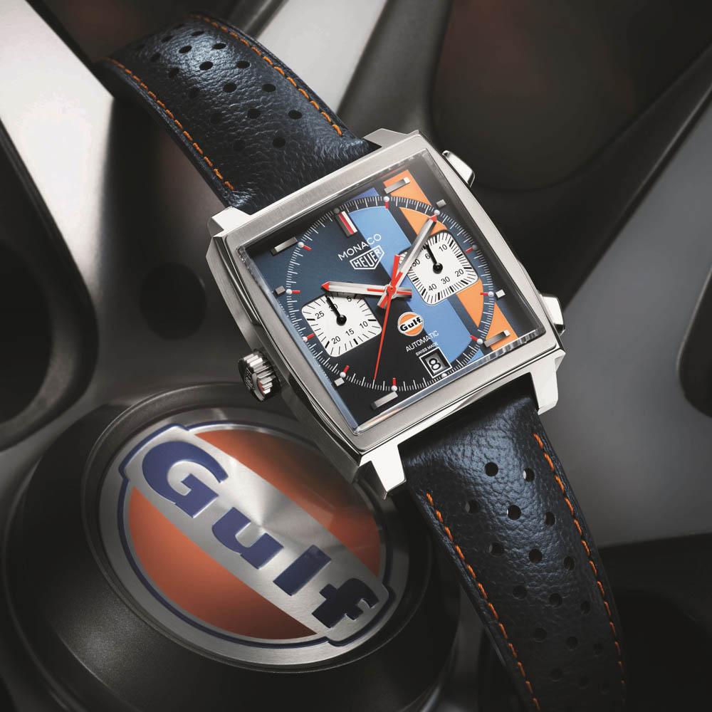 1971年公開の「栄光のル・マン」のスポンサー契約から生まれた特別なモデル「モナコ ガルフエディション」-TAG Heuer -ow6222-1