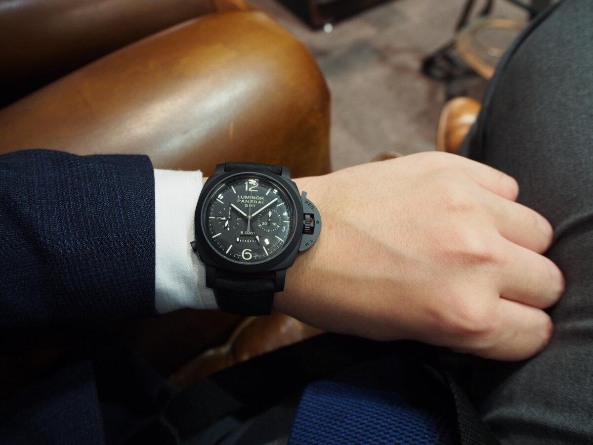 【生産終了モデル】パネライ / ルミノール クロノ モノプルサンテ 8デイズ GMT (PAM00317)-PANERAI -P1157219