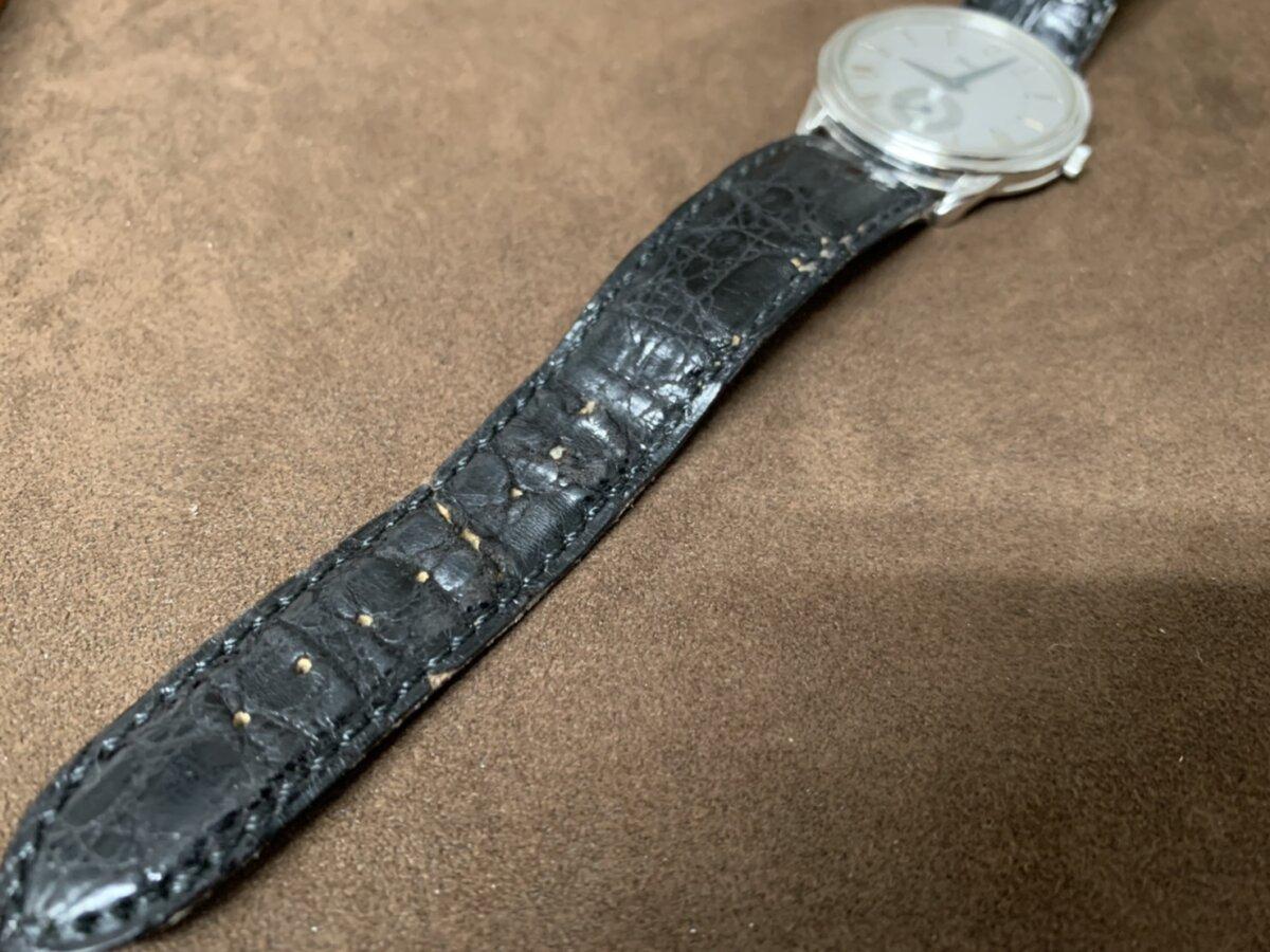 ブラックリザードストラップにブルーステッチの組み合わせがお洒落なオーダーストラップが完成。-その他ブランド用 ジャン・ルソー オーダーストラップ -S__44851234