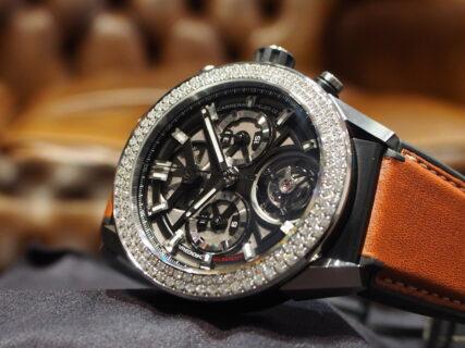 【タグ・ホイヤー】トゥールビヨンと128個のダイヤモンドを施した豪華な1本をご紹介