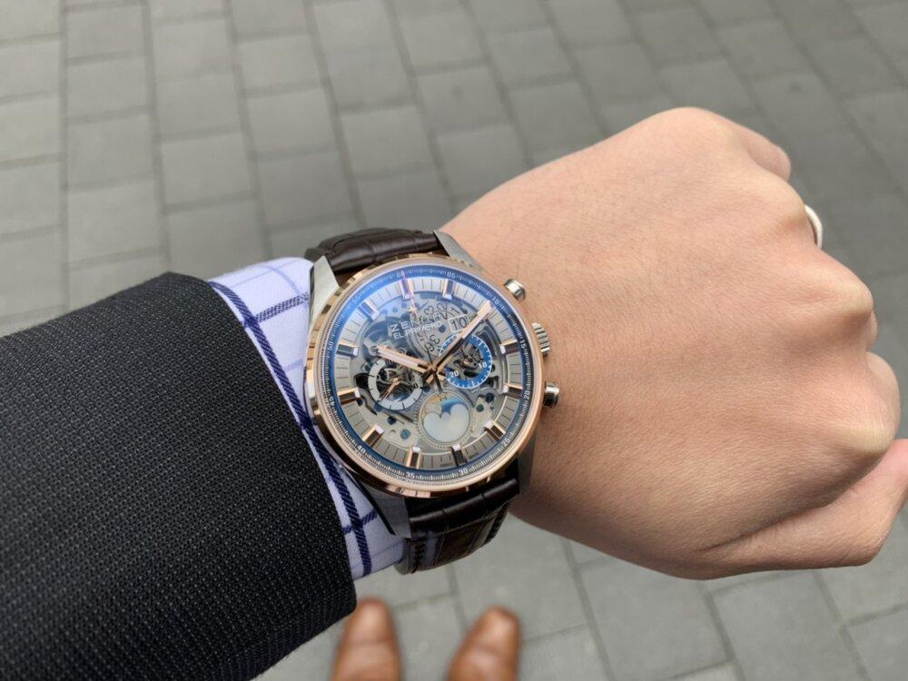 """将来受け継いでいきたい時計ブランド""""ゼニス""""の魅力がたっぷり詰まった1本、エル・プリメロ グランドデイト フルオープン。-ZENITH -S__22126600"""