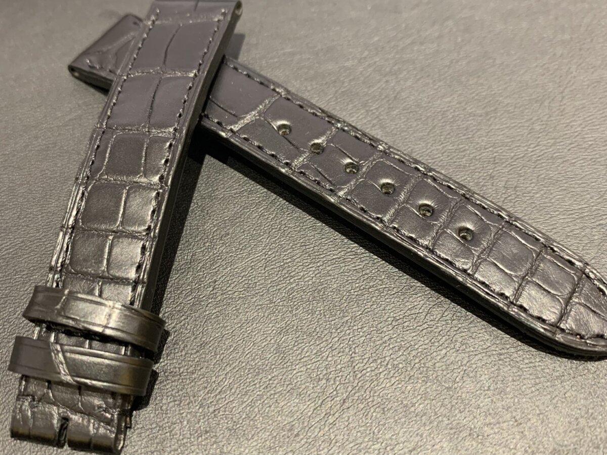 【ジャン・ルソー】ブラックアリゲーター×ラバー素材のこだわりオーダーストラップをご紹介-カルティエ用 その他ブランド用 ジャン・ルソー オーダーストラップ -S__24707079