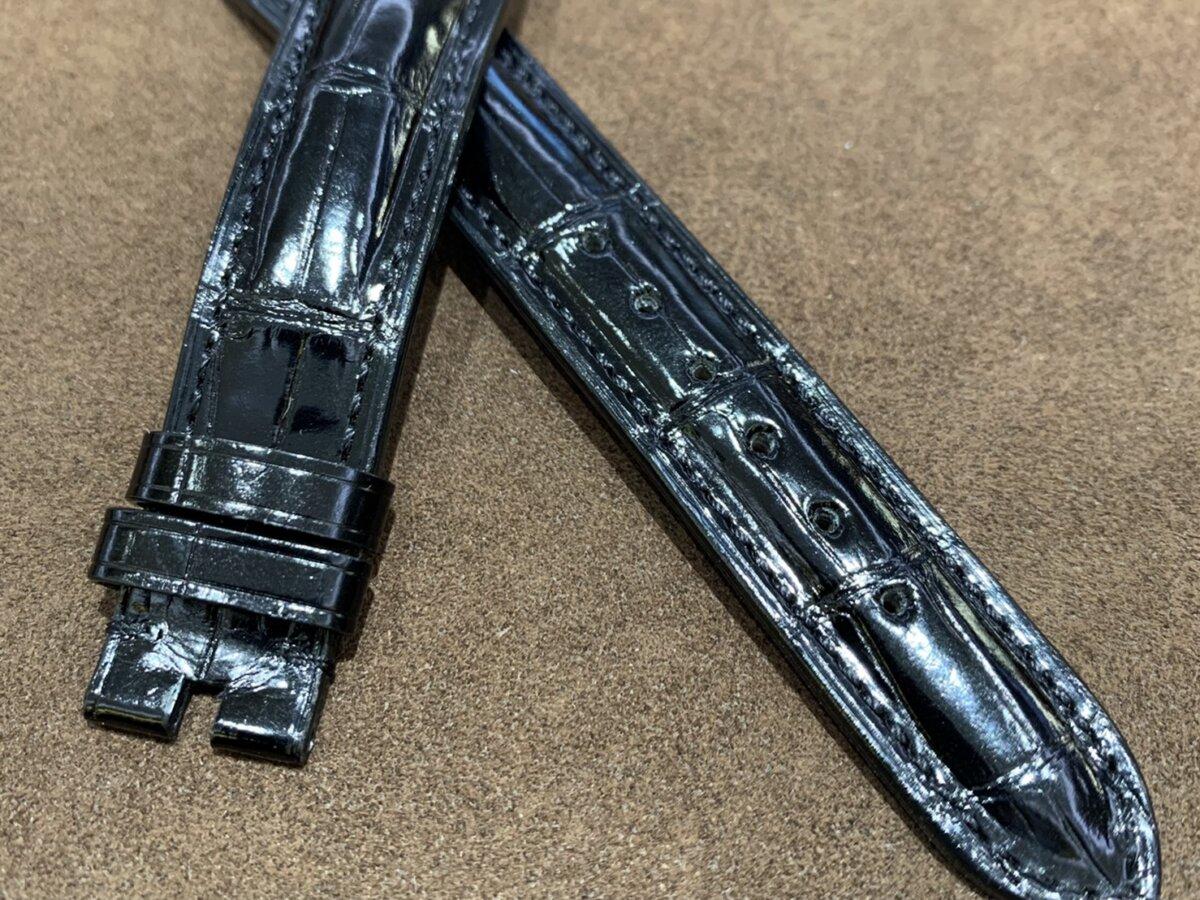 【ジャン・ルソー】ブラックアリゲーター×ラバー素材のこだわりオーダーストラップをご紹介-カルティエ用 その他ブランド用 ジャン・ルソー オーダーストラップ -S__24707080
