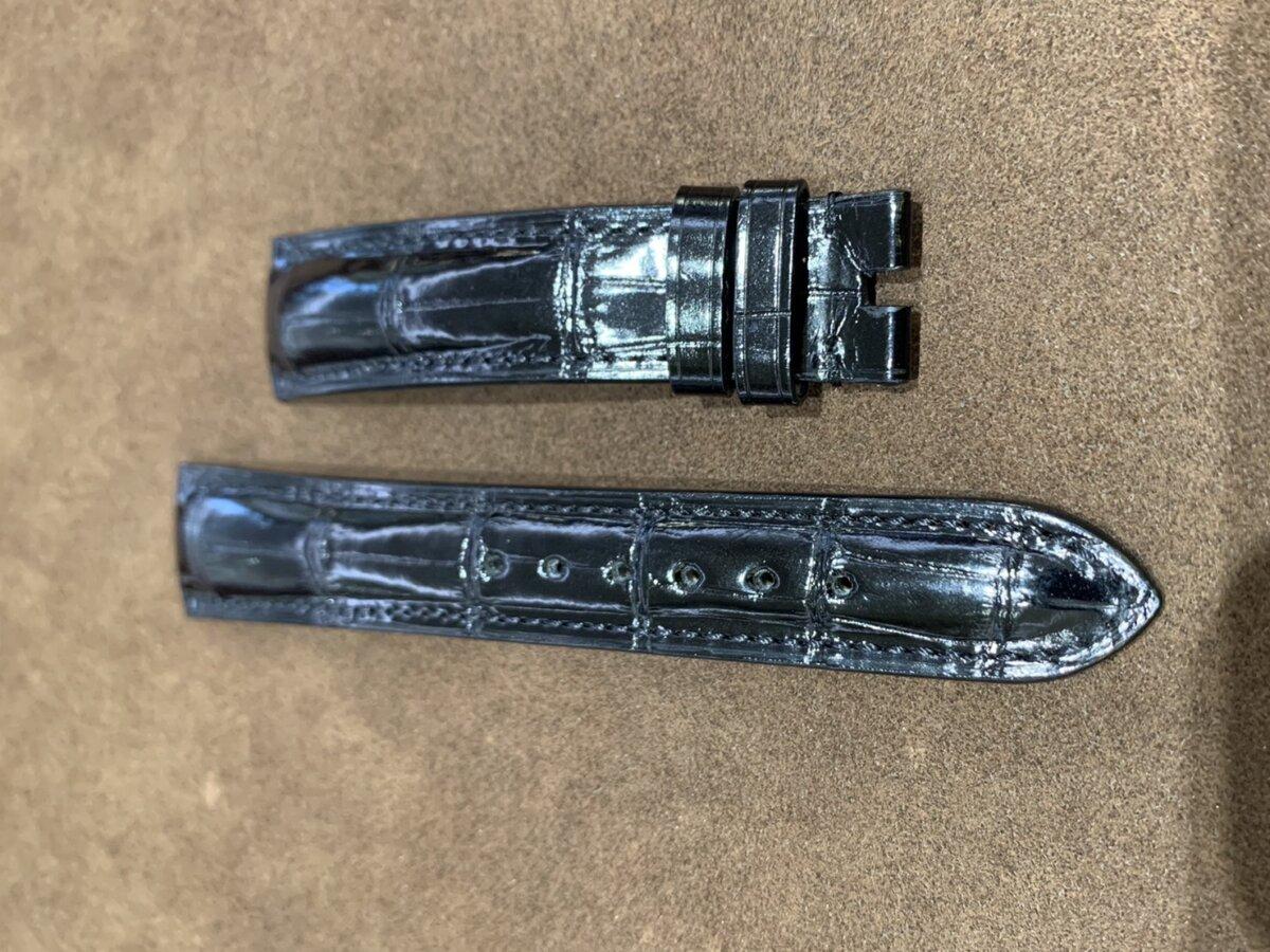 【ジャン・ルソー】ブラックアリゲーター×ラバー素材のこだわりオーダーストラップをご紹介-カルティエ用 その他ブランド用 ジャン・ルソー オーダーストラップ -S__24707082
