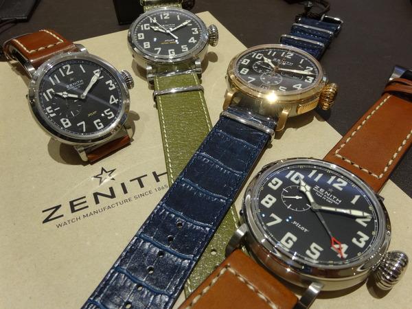 【ZENITH】パイロットウォッチ取り揃えております。4月から値上げです。