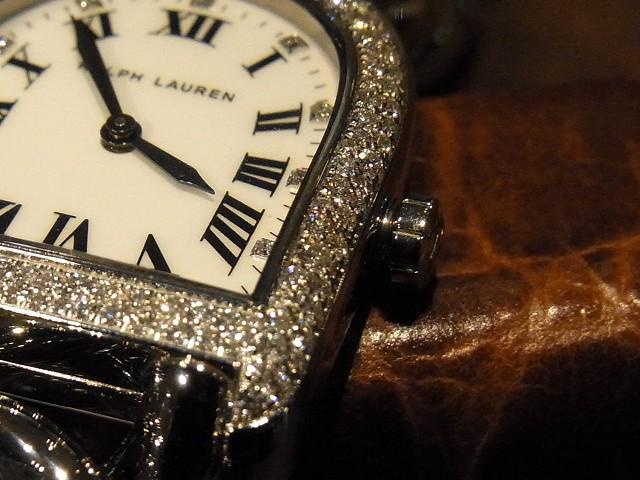 *RALPH LAUREN >> スティラップ プティリンク スノーフォールダイヤモンドケース/RLR0040002