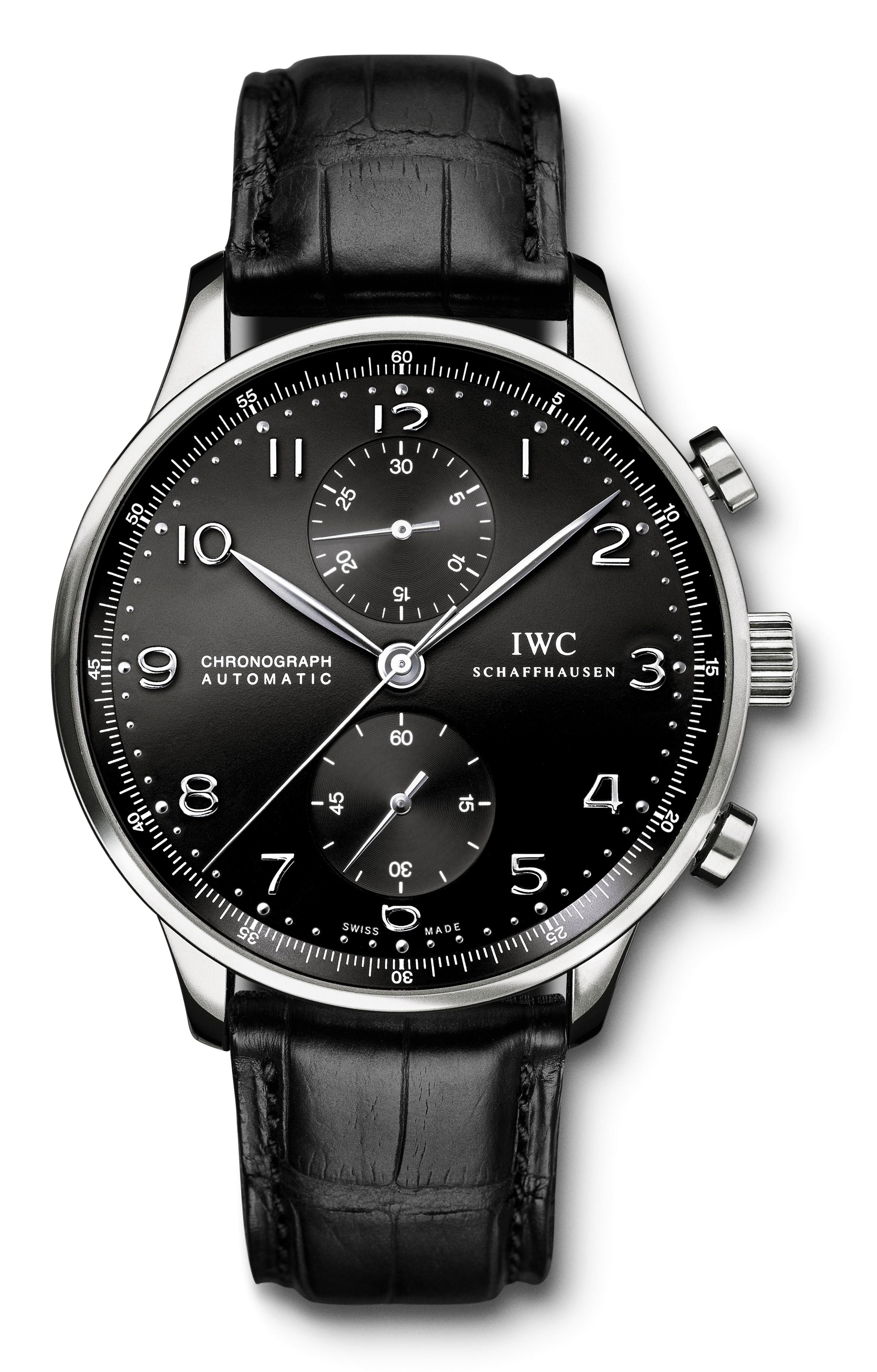 本日の入荷商品 IWC ポルトギーゼ・クロノグラフ ブラック文字盤 IW371447