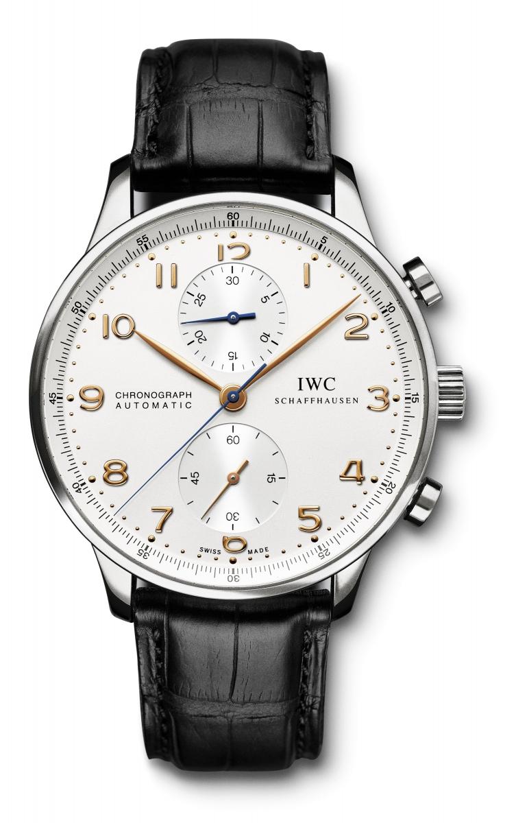 本日の入荷商品 IWC ポルトギーゼ・クロノグラフ シルバー×金針が再入荷です!