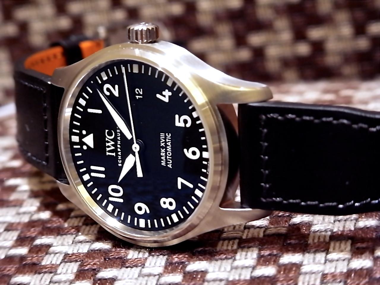 IWC パイロットウォッチ マークXVIII 。