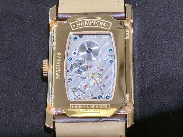 直線と曲線の組み合わせが魅力的なスクエア型時計「ハンプトン」-BAUME&MERCIER -CIMG3466-600x450