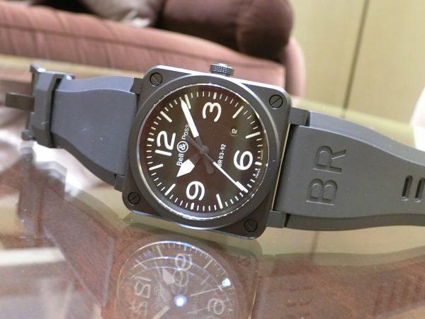 ベル&ロス ブラックマットな質感が上品な BR03 92-BL-CE/SRB-Bell&Ross -CIMG3629-600x450
