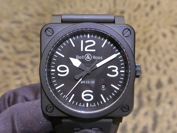 ベル&ロス ブラックマットな質感が上品な BR03 92-BL-CE/SRB-Bell&Ross -CIMG3633-600x450