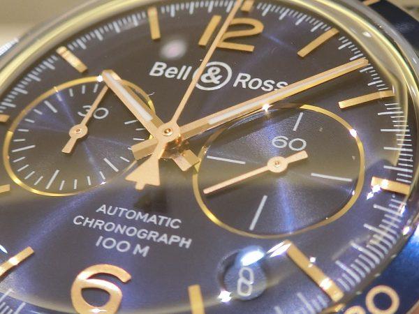 ブルー×ゴールドの配色が魅力的な ベル&ロス 「ヴィンテージBR V2-94 AERONAVALE」-Bell&Ross -CIMG4089-600x450