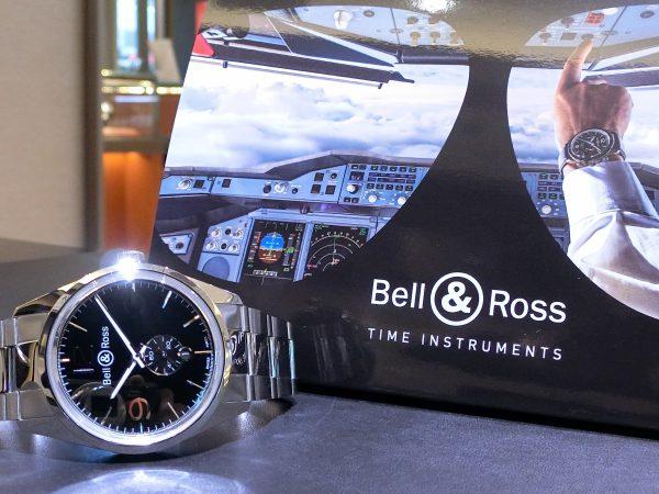 軍事時計をなぞったデザインの「ヴィンテージBR123 オフィサー 」Bell&Ross V-BR123OF-B-M-Bell&Ross -CIMG5041-600x450