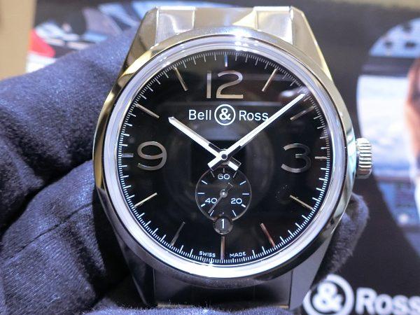 軍事時計をなぞったデザインの「ヴィンテージBR123 オフィサー 」Bell&Ross V-BR123OF-B-M-Bell&Ross -CIMG5042-600x450