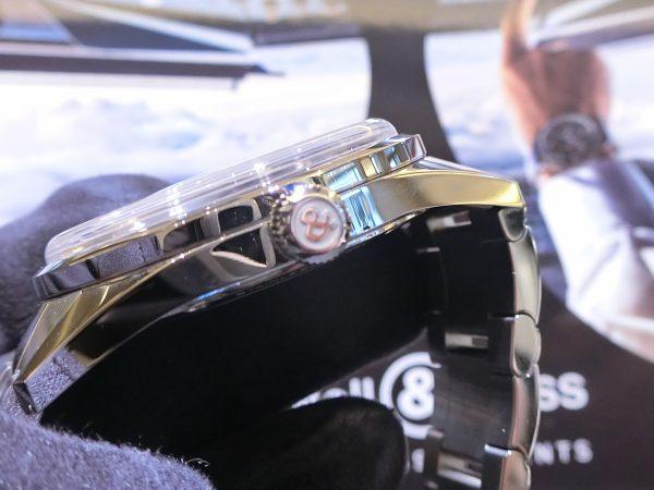軍事時計をなぞったデザインの「ヴィンテージBR123 オフィサー 」Bell&Ross V-BR123OF-B-M-Bell&Ross -CIMG5044-600x450
