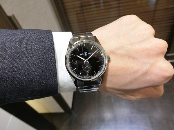 軍事時計をなぞったデザインの「ヴィンテージBR123 オフィサー 」Bell&Ross V-BR123OF-B-M-Bell&Ross -CIMG5047-600x450