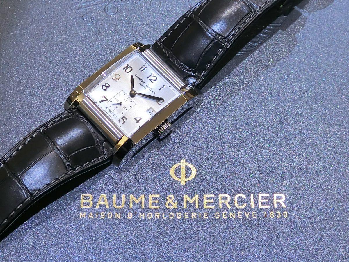 大胆さと繊細さを併せ持つレクタンギュラーケース BAUME&MERCIER「ハンプトン オートマティック」M0A10026