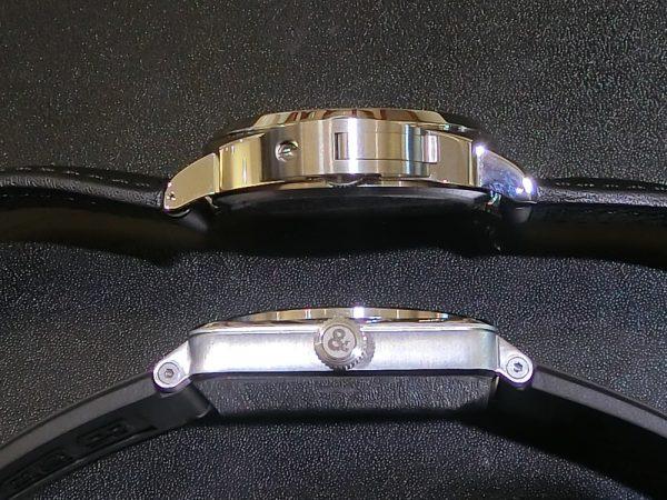 文字盤が似ている時計のご紹介!!Bell&Ross 「BR 03-92 スティール」BR0392-BL-ST/SRB PANERAI「ルミノール ベース ロゴ アッチャイオ」PAM01000-Bell&Ross PANERAI -CIMG5771-600x450
