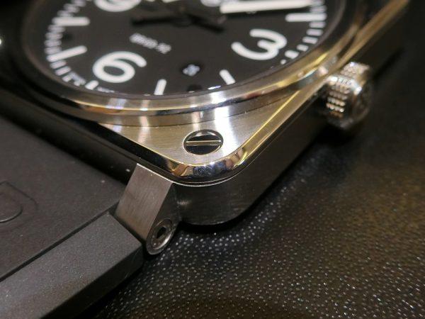 文字盤が似ている時計のご紹介!!Bell&Ross 「BR 03-92 スティール」BR0392-BL-ST/SRB PANERAI「ルミノール ベース ロゴ アッチャイオ」PAM01000-Bell&Ross PANERAI -CIMG5775-600x450
