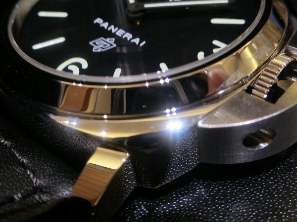 文字盤が似ている時計のご紹介!!Bell&Ross 「BR 03-92 スティール」BR0392-BL-ST/SRB PANERAI「ルミノール ベース ロゴ アッチャイオ」PAM01000-Bell&Ross PANERAI -CIMG5776-600x450