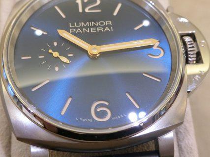深海のようなブルー文字盤。PANERAIから「ルミノールドゥエ  3デイズ チタニオ PAM00728」