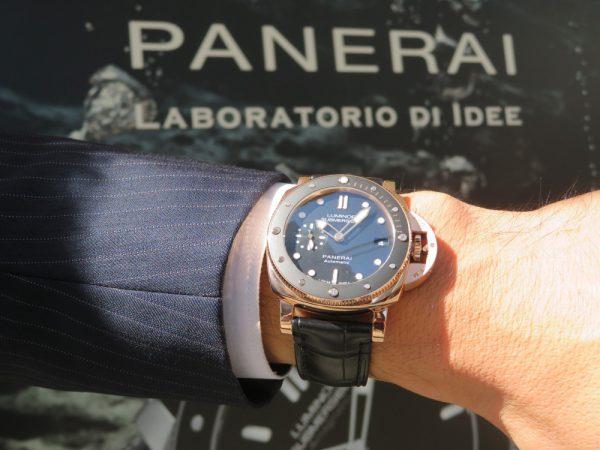 一際目立つパネライモデルPAM00684!!ブランドを象徴する、リューズガードにもレッドゴールドを採用!!-PANERAI -IMG_0442-600x450