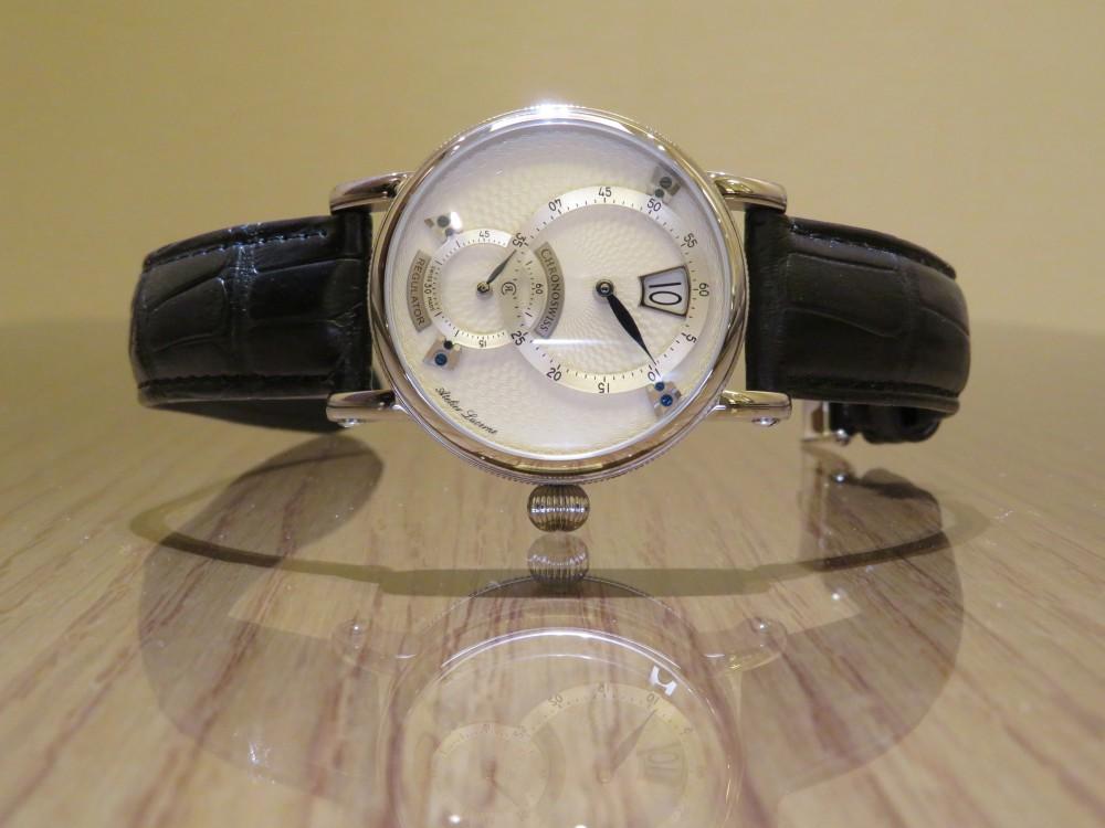 時刻をデジタル表示するユニークダイアル! クロノスイス「シリウス  フライング・レギュレーター・ジャンピングアワー」CH-8323-SISI-CHRONOSWISS -IMG_0816