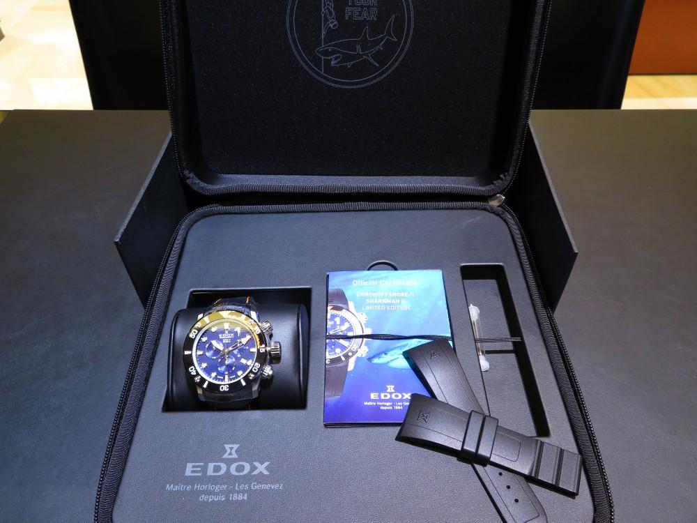 EDOX世界300本限定モデル!クロノオフショア1クロノグラフ シャークマンⅡリミテッドエディション-EDOX -IMG_0831