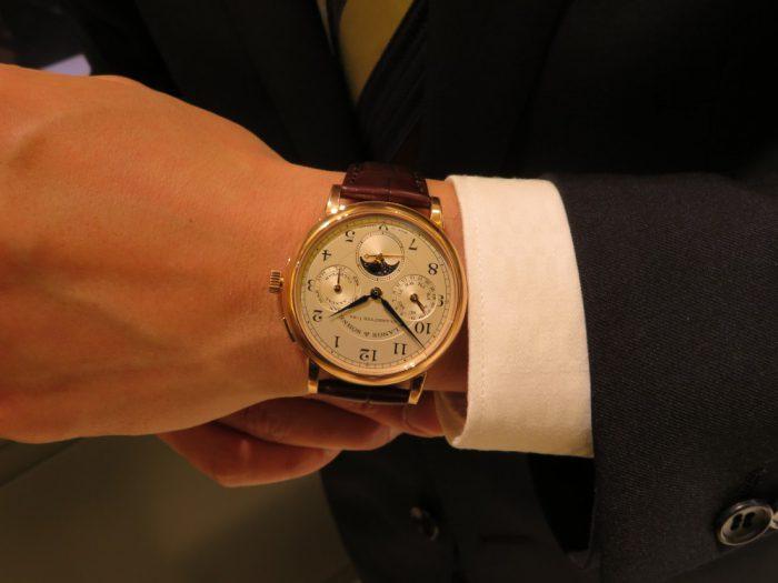 """A.ランゲ&ゾーネより、古典的な懐中時計の趣を組み合わせたモデル""""1815 アニュアルカレンダー""""-A.LANGE&SÖHNE -IMG_0874-700x525"""