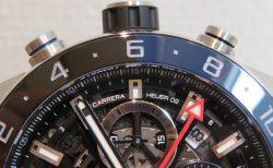 ベゼルのブラック&ブルーがアクセント! ホイヤー02を搭載したGMTモデル!「カレラ キャリバー ホイヤー02 クロノグラフ GMT」CBG2A1Z.FT6157