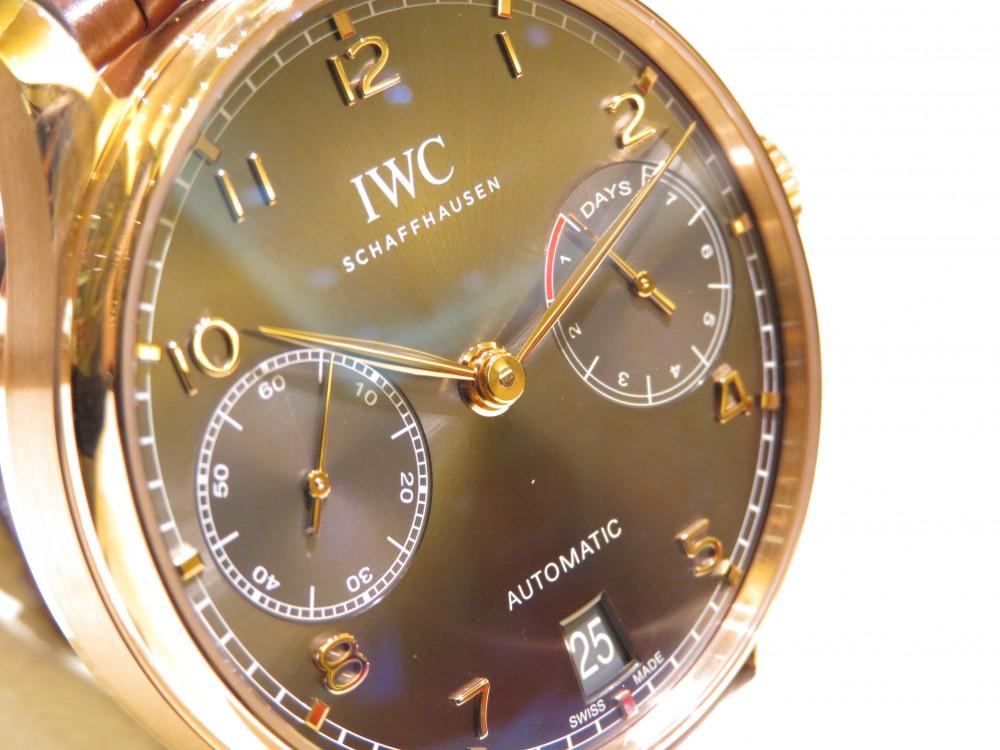 上品な温かみのあるレッドゴールドの輝き。IWCポルトギーゼ・オートマティック-IWC -IMG_1505